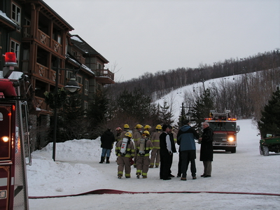 Weider Building Fire, at Blue Mountain Collingwood.