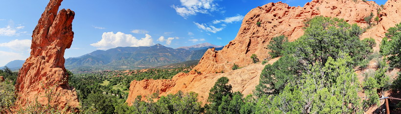 Panorama from the Garden of the Gods in Colorado.
