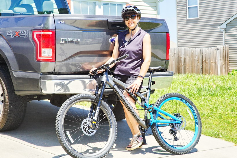 Me and my new bike, heading out.