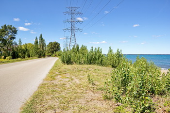 Confederation park trail in Hamilton, ON along Lake Ontario.