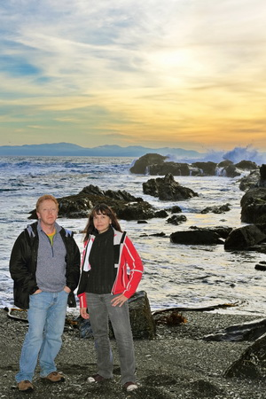 Visiting my brother in Victoria, BC, on a drive up to Port Renfrew to watch the tide.