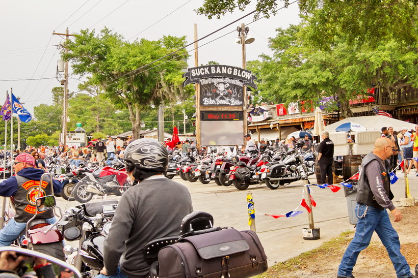 Murrells Inlet during Myrtle Beach Bike Week, May 18, 2012, where most the action was at.
