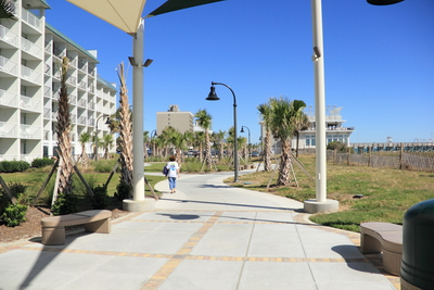 The new 2 mile walk way which includes the new board walk at Myrtle Beach, SC.