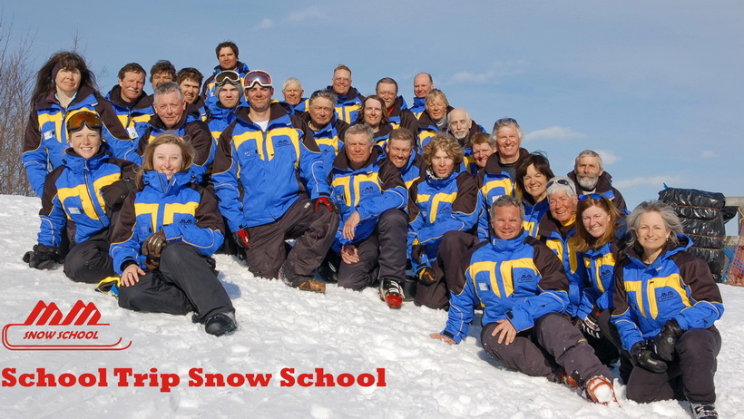 The week day ski school.  Not my best photo but the only one I have.