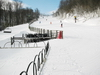 Green (easy) Boggie Run, and terrain park coming down to Blue Ridge Express